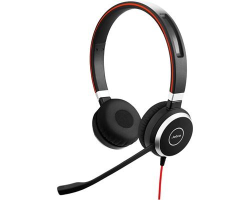 Jabra Evolve 40 Stereo Headset Only Svart