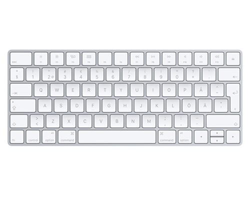 Apple Magic Keyboard Langaton Näppäimistö Ruotsi Hopea, Valkoinen