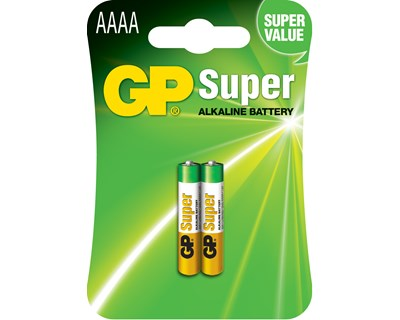 GP Batteri 25A-U2 AAAA/LR61 Super 2-Pack
