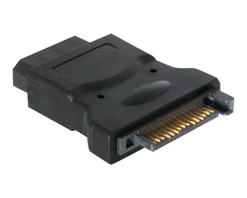 Deltaco Adapter 4 Pin Intern Effekt Hona 15-stifts Seriell Ata-ström Hona