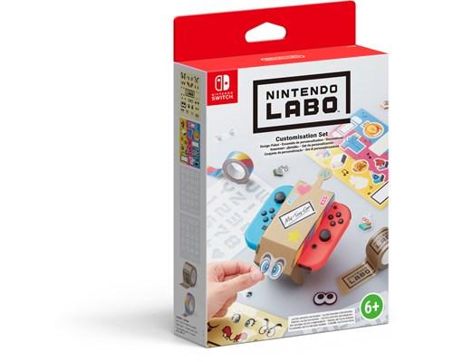 Nintendo Labo Customisation Set Blå; Brun; Gul; Röd; Svart
