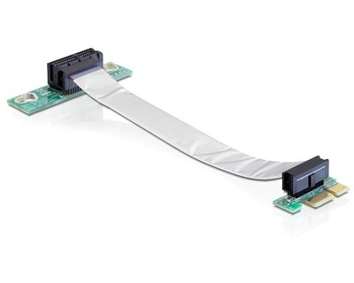 Delock Riser Card PCI Express x1 with Flexible Cable