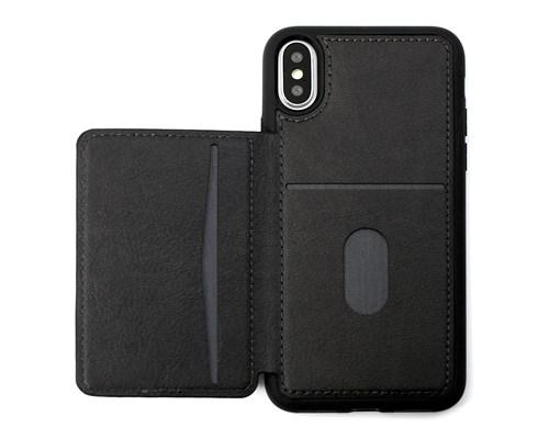 Cirafon Genuine Leather Flip Wallet Iphone X; Iphone Xs Svart