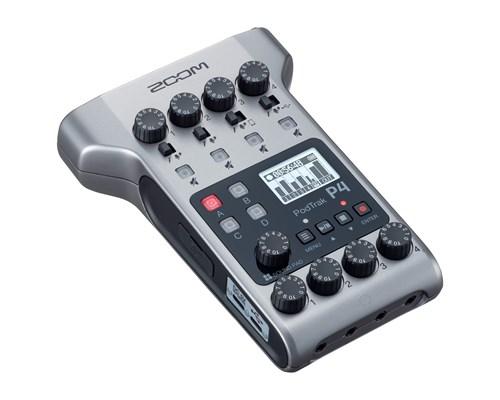 Zoom Podtrak P4 Podcasting Recorder Silver, Svart
