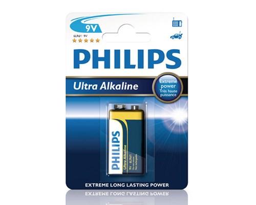 Philips Extremelife+ Batteri Alkaline 9v/6lf22