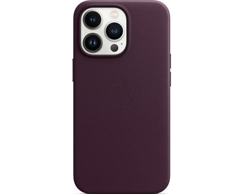 Apple Leather Case With Magsafe Iphone 13 Pro Mörk Körsbär