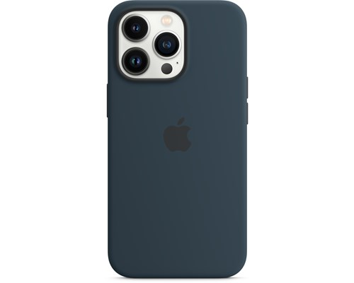 Apple Silicone Case With Magsafe Iphone 13 Pro Avgrundsblå