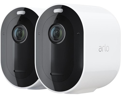Arlo Pro 4 Trådlös Säkerhetskamera Vit 2-pack