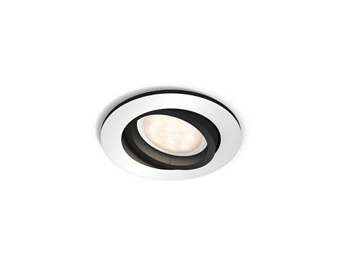 Philips Hue Millskin Spot Rund Silver/svart 230v