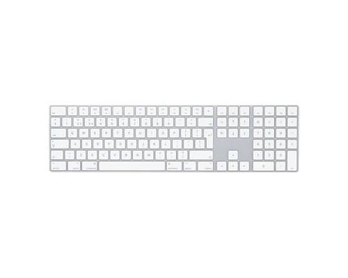 Apple Magic Keyboard With Numeric Keypad Langaton Näppäimistö Yhdysvaltain (kansainvälinen) Hopea, Valkoinen