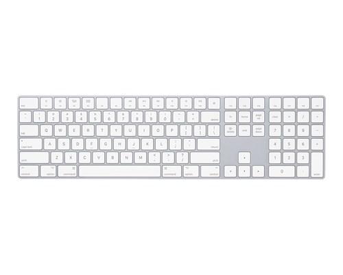 Apple Magic Keyboard With Numeric Keypad Langaton Näppäimistö Yhdysvaltain Hopea, Valkoinen