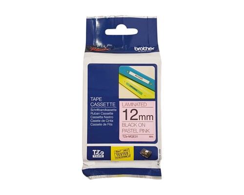 Brother Tape Tze-mqe31 12mm Svart/rosa