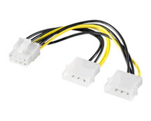 Microconnect Strömadapter 4 Pin Intern Effekt Hane 8-stifts Pci Express-ström Hona
