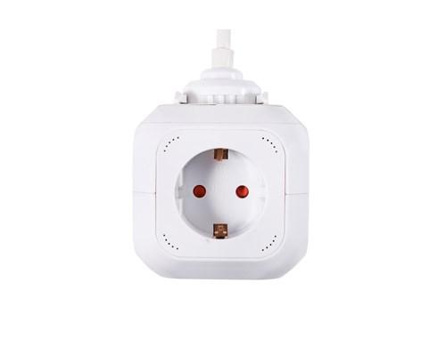 Prokord Power Cube 4x Socket + 2xusb 2.1 Mah 3m - White 4st 2 X 4 Pin Usb Type A, Ström Cee 7/4