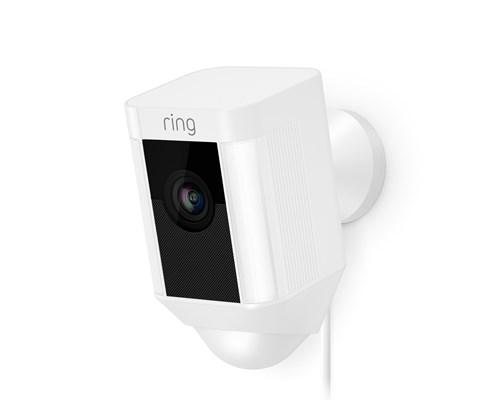 Ring Spotlight Kamera Trådad - Vit