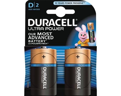Duracell Batteri Ultra Power D 2st