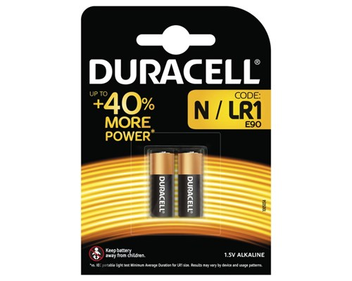 Duracell Batteri Security Lr1 N/mn9100 2st