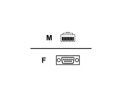 Digi Adapter RJ-45 Hane 9 pin D-Sub (DB-9) Hona