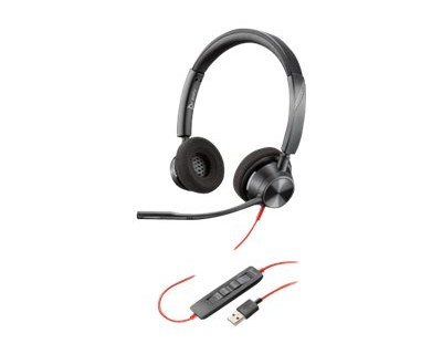 Poly Blackwire 3320 USB-A Svart