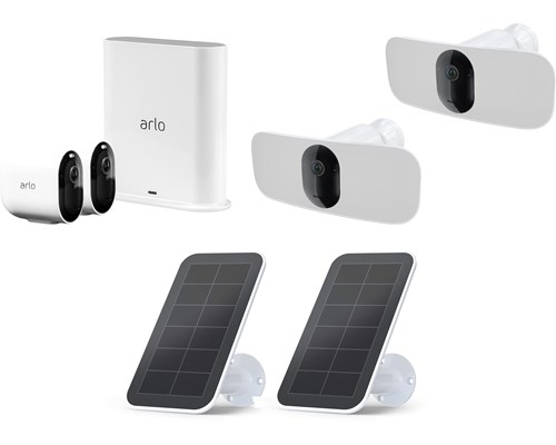Arlo Kontorspaket Med Två Kameror, Två Ljuskameror Och Solpaneler