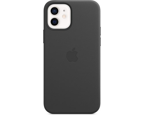 Apple Leather Case With Magsafe Iphone 12, Iphone 12 Pro Svart