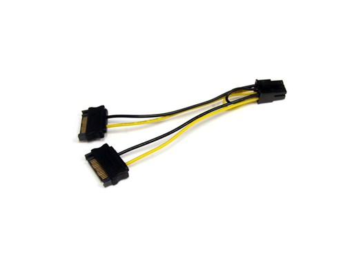 Startech Sata Power To 6 Pin Pci Express Video Card Power Cable Adapter 0.15m 15-stifts Seriell Ata-ström Hane 6-stifts Pci Express-ström Hane