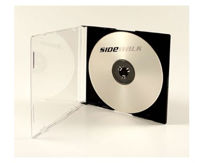 Sidewalk CD Case Slim 5.2mm 1st CD Black 50-Pack