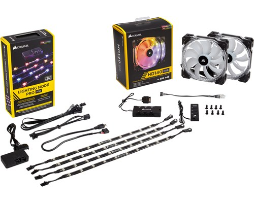 Corsair Lighting Node Pro + Hd140 Rgb 2-pack 140 Mm