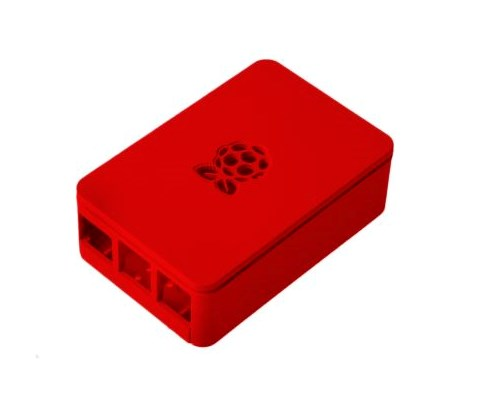 Designspark Chassi For Raspberry Pi 3 B+ Red