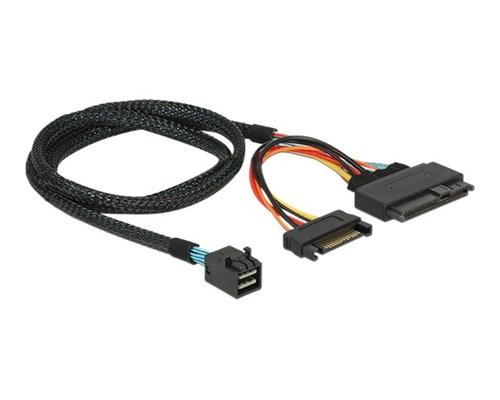 Delock Intern Sas-kabel 0.75m 36-stifts 4x Mini-sas Hd (sff-8643) Hane 15-stifts Seriell Ata-ström, U.2 (sff-8639)