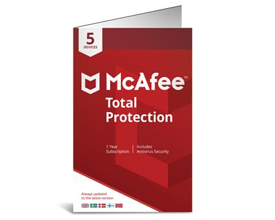 McAfee Total Protection 1 år 5-enheter