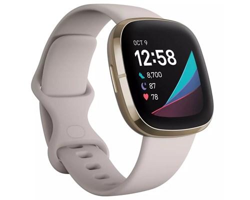 Fitbit Sense Lunar White/soft Gold Aktivitetspårare Vit