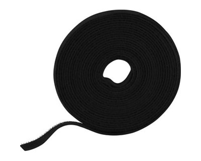 Deltaco Touch fastener tape 5.0 M 9MM BLACK