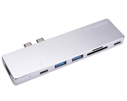 Prokord Pro Dock 4k For Macbook Pro/air Thunderbolt 3 Mini-dockningsenhet