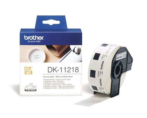 Brother Etiketter Rund 24mm 1000st Vit