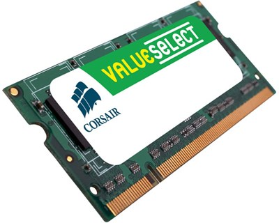 Corsair Value Select 0.5GB 333MHz DDR SDRAM SO DIMM 200-pin