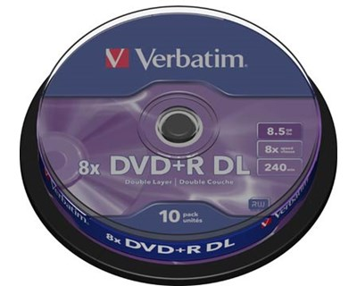 Verbatim 10 x DVD+R DL 8.5GB