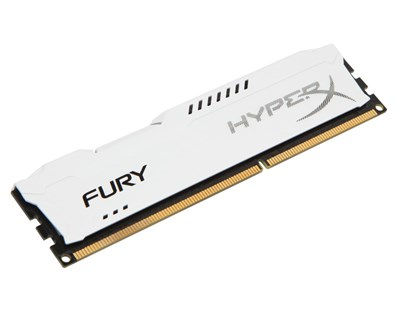 Kingston HyperX FURY White Series 4GB 1,333MHz DDR3 SDRAM DIMM 240-pin